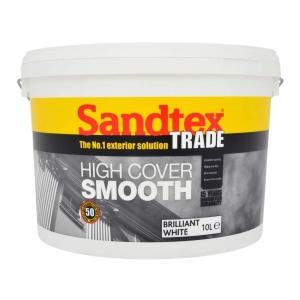Sandtex Trade High Cover Smooth Brilliant White 10L