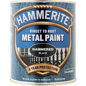 Hammerite Metal Paint Black 750ml