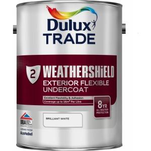 Dulux Paint Weathershield External Undercoat Brilliant White 5L