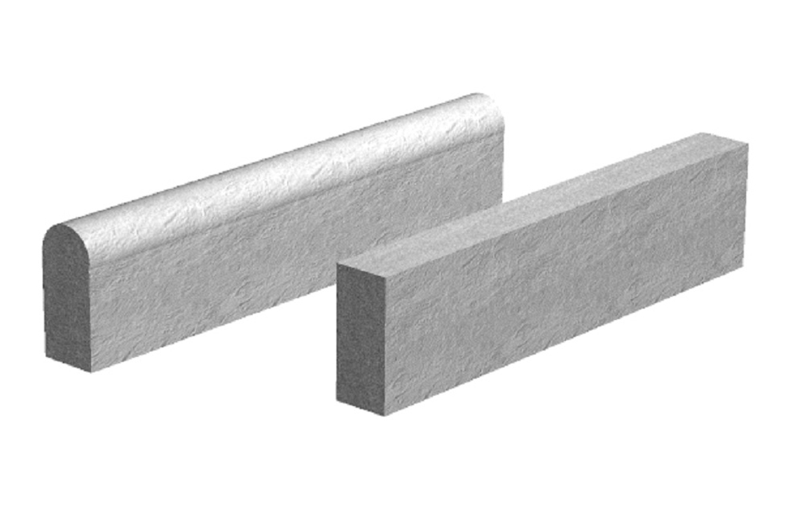 Supreme Path Concrete Edging Round Top 36in x 6in x 2in - Pack of 80