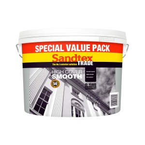 Sandtex Trade High Cover Smooth Masonry Paint Magnolia 7.5L