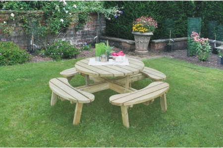 Circular Picnic Table Pressure Treated 2060 x 720 x 2060mm