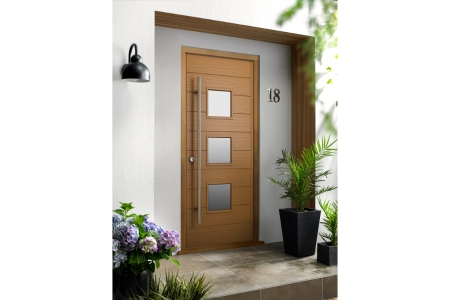 Malmo Ultimate External Oak Front Door with Outer Frame 852mm x 2079mm