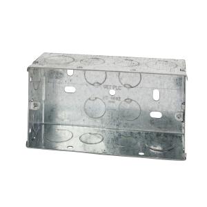 4TRADE 2 gang Metal Back Box 47mm