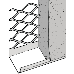Expamet External Stainless Steel Render Stop Bead Standard Wing 20mm 3m