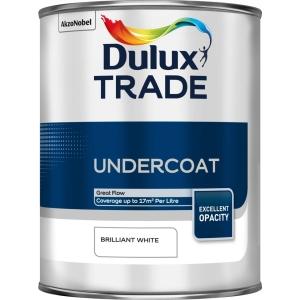 Dulux Trade Undercoat Paint Brilliant White 1L