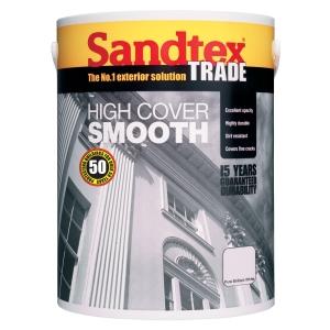 Sandtex Trade High Cover Smooth Brilliant White 5L