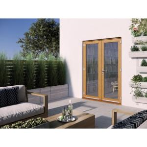JELD-WEN Kinsley Hardwood French Doors Golden Oak Finish - 5ft