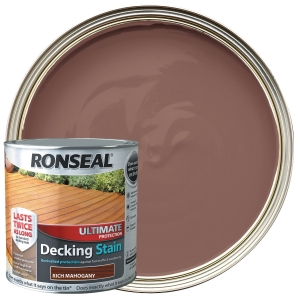 Ronseal Ultimate Protection Decking Stain - Mahogany 2.5L