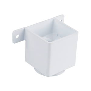Osma SquareLine 4T823 Pipe Connector And Bracket 61mm White