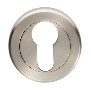 4FIREDOORS FS971 Euro Profile Escutcheon Satin Nickel 51mm 2 Pack