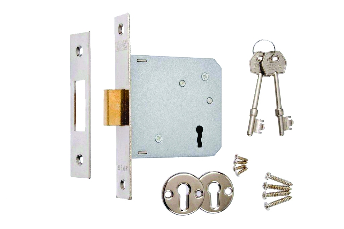 4Trade Mortice Sashlock 3 Lever 64mm Chrome