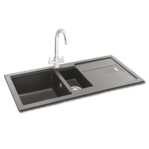 Carron Phoenix Bali 1.5 Bowl Inset Grey Composite Kitchen Sink
