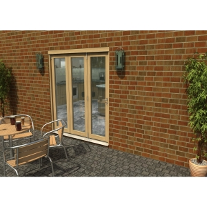 Travis Perkins 54mm Unfinished External Sliding Folding 1800mm Door Set
