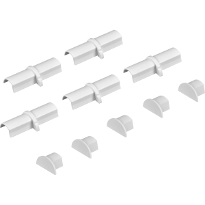 D Line Coupler & End Cap Pack MICRO+ 5 x Coupler & 5 x End Pack