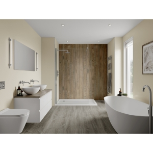 Multipanel Linda Barker Bathroom Wall Panel Unlipped Salvaged Plank Elm 9480