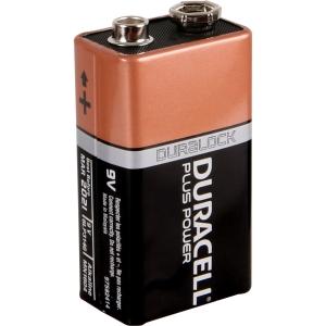 Duracell Plus Power Battery 9V 2 Pack