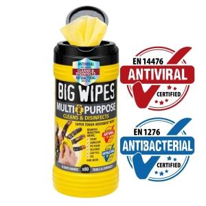 Big Wipes Antiviral Multi-Purpose Pro+ 80 Wipes