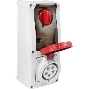 Famatel Uk Ltd Industrial RCD Socket IP67 415V 32A 30mA 3P+N+E Switched