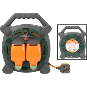 Masterplug 2 Socket 13A IP54 Rated Cable Reel 20m 240V
