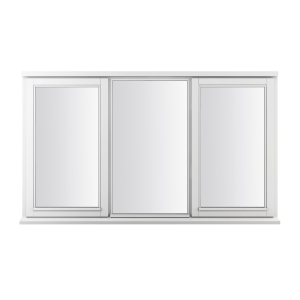 JELD-WEN Stormsure White Timber Window 3 Panel Left And Right Opening 1045 x 1765mm