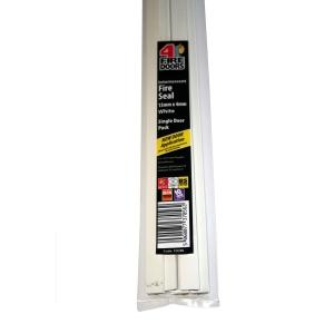 4FireDoorsDOORS Intumescent Fire Seal White 15 x 4 x 1005mm Single Door Pack FD286