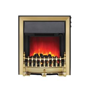Be Modern Camberley Fazer Electric Fire C/W Spacer Frame 32840 Brass