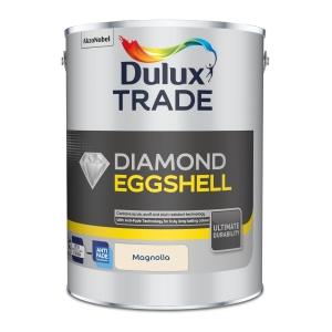 Dulux Trade Diamond Quick Dry Eggshell Paint Magnolia 5L 5092359