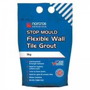 Norcros Stop Mould Wall Tile Grout Artic White 5kg