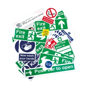 Spectrum Health and Safety Self Adhesive Signage Pack Poster