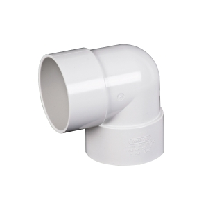 Osma Waste 90¡ solvent weld knuckle bend white 40mm