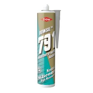Dow Corning 791 Silicone Waterseal Sealant Grey 310ml