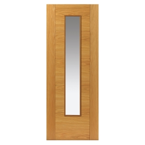 Internal Oak Emral Prefinished Glazed FD30 Internal Fire Door 44 x 1981 x 686mm