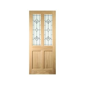 Oregon 4 Panel White Oak Exterior Door