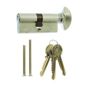 4Trade Cylinder & Thumb Turn Euro Profile 35/35mm Satin