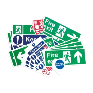 Spectrum Fire Safety Signage Pack Rigid PVC Medium