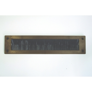 Stormguard Letterbox Plate Brush Draught Excluder Brown