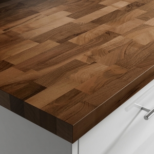 Solid Prime Walnut Upstand Oiled 3000 x 100 x 20mm