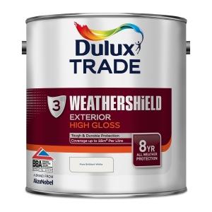 Dulux Weathershield Gloss Paint Pure Brilliant White 2.5L