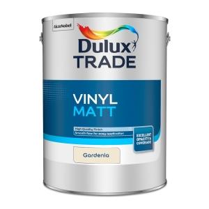 Dulux Trade Vinyl Matt Emulsion Paint Gardenia 5L