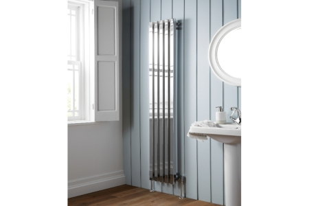 Soho Vertical Chrome Radiator 1800mm x 305mm