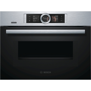Bosch Serie 8 Integrated Compact Oven & Microwave Stainless Steel with Home Connect - CMG676BS6B