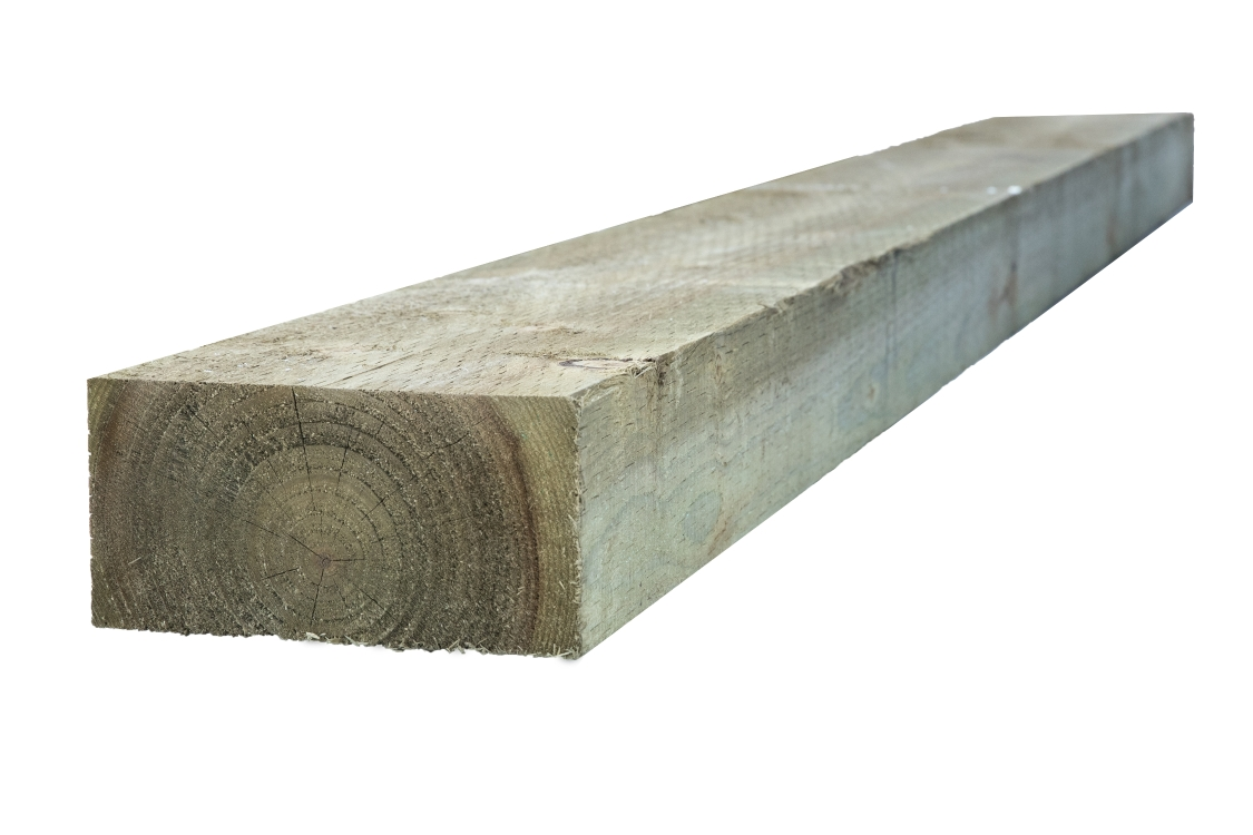 Travis Perkins Incised Treated Timber Sleeper Green 100mm x 200mm x 2.4M