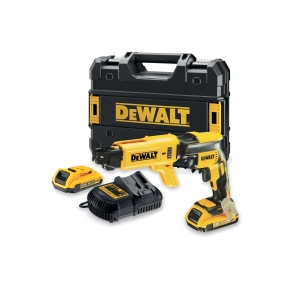 """DeWalt 18V XR Li-ion Brushless Collated Drywall Screwdriver with 2 x 2.0AH Batteries, Charger and Kit Box"""""""