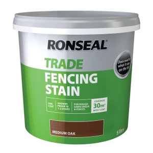 Ronseal Trade Fencing Stain Medium Oak 5L