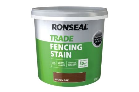 Ronseal Trade Fencing Stain Medium Oak 5L
