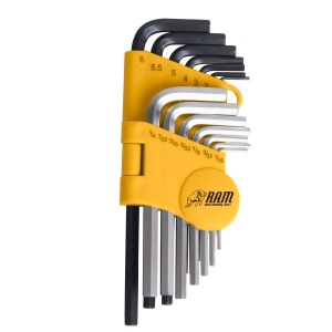 Ram 14 Piece Key-ring Hex Key Set (1.5 - 6mm 1/16-1/4inAF) RAM0089