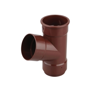 Osma RoundLine 0T035 Pipe Branch 67.5° 68mm Brown