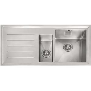 Franke Winsford 1.5 Bowl Inset Stainless Steel Left Hand Drainer Kitchen Sink