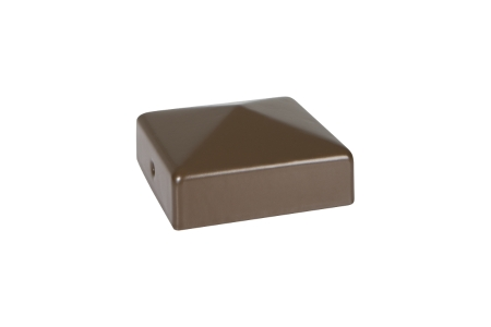 Durapost Fence Cap with Bracket Sepia Brown 75 x 75mm Home Delivered